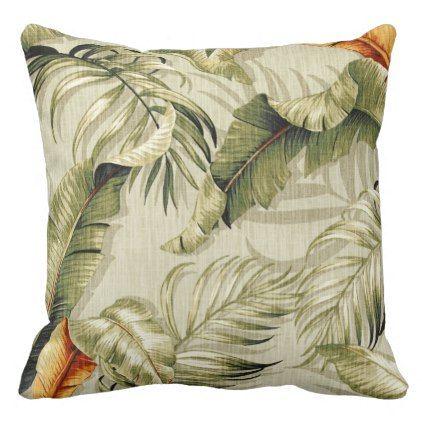 Floral Flowers Foliage Palm Fronds Decor Throw Pillow Zazzle