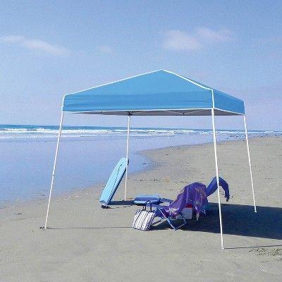 Z Shade 10 X 10 Angled Leg Instant Canopy Tent Portable Shelter Carolina Blue Canopy Tent Canopy Outdoor Shade Canopy