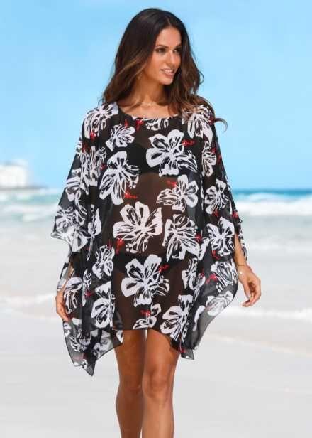 Пляжная туника, bpc selection, черный белый   блузы   Pinterest ... d7683b52545