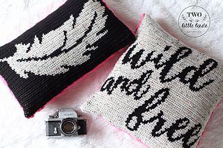 Wild And Free Pillow Set Crochet Pillow Pattern Pillow Pattern Pillow Set