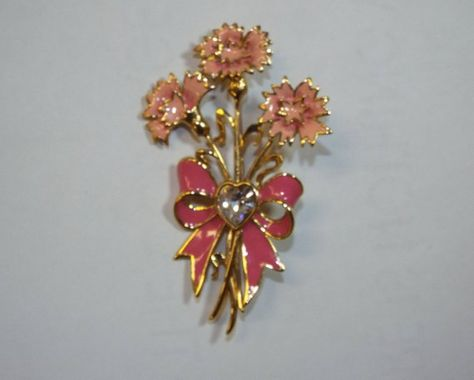 Designer Bob Mackie 1990 Gold Tone Rhinestone and Enamel Ice Cream Sundae Brooch Pin Jewelry