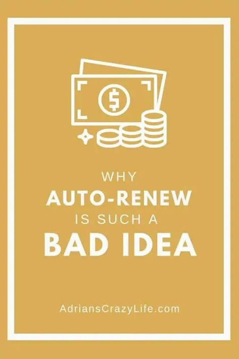 Auto-Renewing Payments are Such a BAD IDEA!