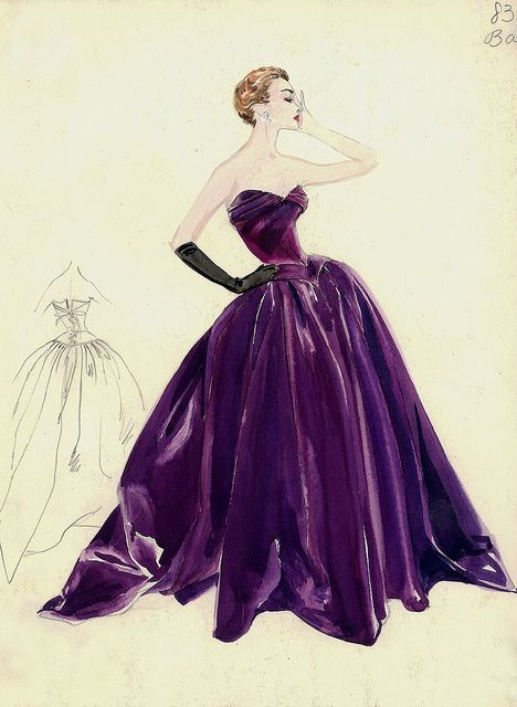 New Fashion Illustration Vintage Dior Evening Gowns 36 Ideas Arte Fashion, Moda Fashion, 1950s Fashion, Trendy Fashion, Fashion Design, Club Fashion, Dior Fashion, Hippie Fashion, Couture Fashion