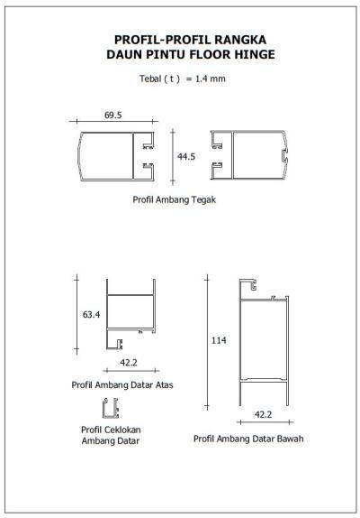 Mengenal Profil Kusen Aluminum Dan Rangka Daun Pintu Jendela Aluminium Pintu Jendela Daun