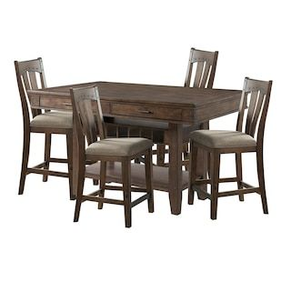 Hawthorne Furniture Whiskey River 5 Piece Counter Dining Set In