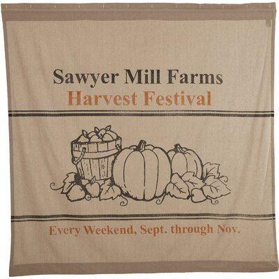 Gracie Oaks Brightling Mill Charcoal Harvest Festival 100 Cotton