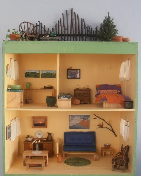 Solid Wood Dollhouse Furniture Kit Emble And Decorate It Yourself To Make One Of A Kind