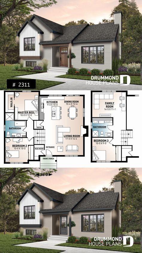 Contemporary Split Level House Plans Inspirational House Plan Ramsay No 2311 Sims House Plans Split Level House Plans House Plans