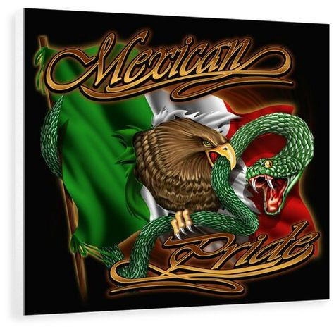 'Mexican Pride' Painting East Urban Home Size: 95.4 cm H x 100 cm W x 3.8 cm D, Format: Wrapped Canvas