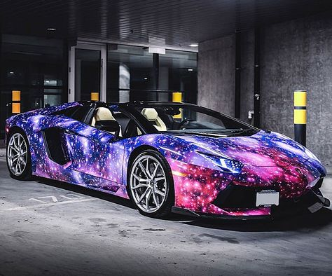 Galaxy Paint Job Lamborghini Modes Of Transportation Lamborghini