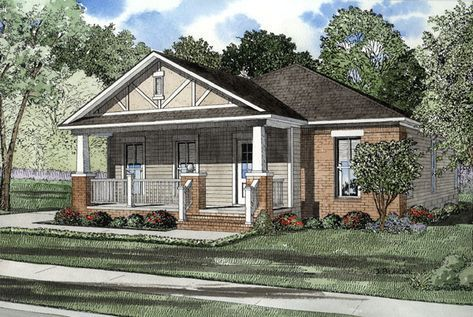 One Story Style House Plan 61201 With 3 Bed 2 Bath 2 Car Garage Craftsman Style House Plans Bungalow House Plans Craftsman House