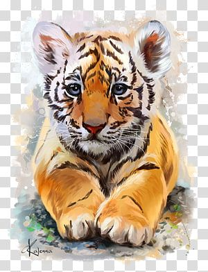 Baby Tigers Watercolor Painting Watercolor Tiger Transparent Background Png Clipart Watercolor Tiger Tiger Painting Animal Drawings