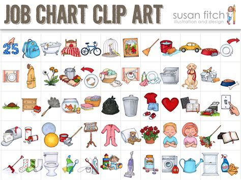 Image Result For Free Printable Chore Clip Art Chore Chart Kids Chores For Kids Job Chart