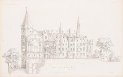 Konigliche Stammburg Hohenzollern Hechingen Aus Atlas Zur Zeitschrift Fur Bauwesen Hrsg V G Erbkam Jg 15 1865 Burg Bauwesen Hechingen