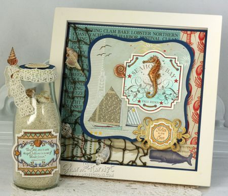Awesome Home Decor Pieces by Sharon Harnist using Sea Shell Bay.  Full Airbrushing Tutorial...