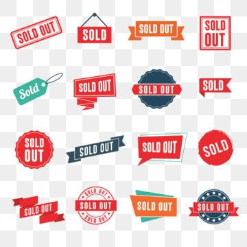 Set Of Sold Out Banners Labels Stamps And Signs Stamp Clipart Sold Out Stamp Png And Vector With Transparent Background For Free Download In 2021 Banner Happy Christmas Greetings Background Banner