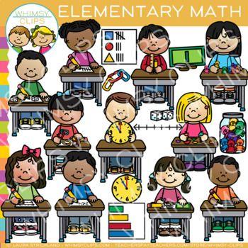 Schooltime Math Clip Art Bundle Math Clipart Elementary Math
