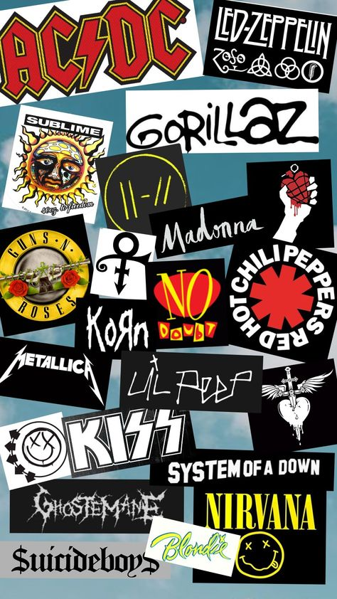 Ac Dc Led Zeppelin Sublime Top Guns N Rose S Madonna Green