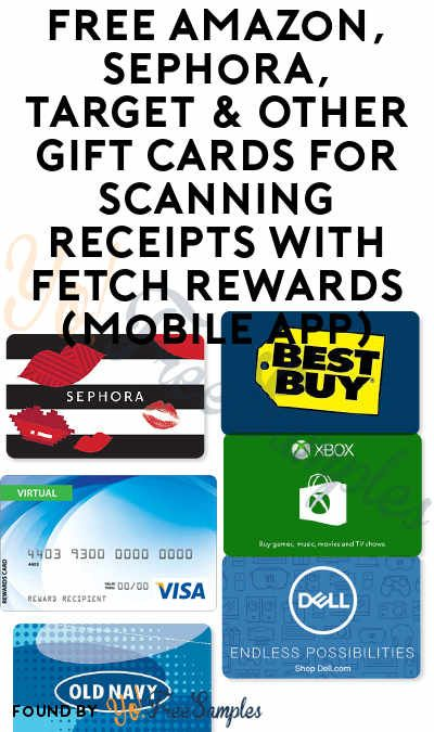 3 000 Points Back Free 2 3 Amazon Sephora Target Zappos Other Gift Cards With Fetch Rewards New Mobile A Free Amazon Products Sephora Sephora Gift Card