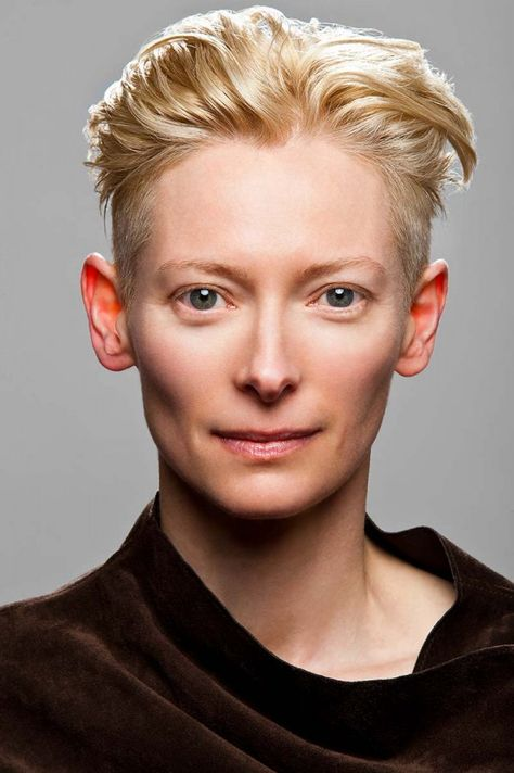 Tilda Swinton Not at all the classic feminine. More like David Bowie than a 'beauty queen,' but a specimen of rare beauty. More