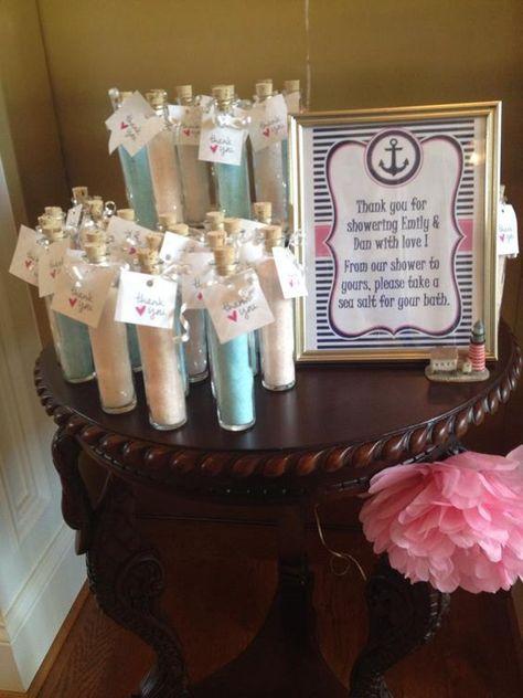 Nautical Baby Shower Favor  Sea Salt for your bath #babyshowerideasfortwins