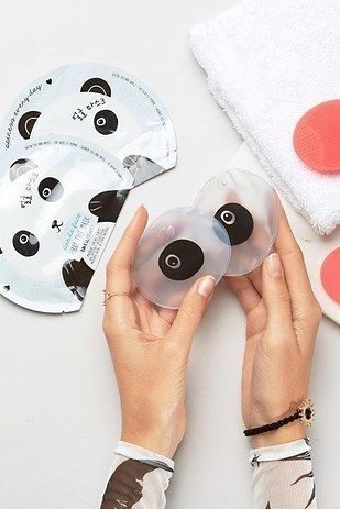Ein Verwohnendes Panda Beauty Set Mit Lakenmasken Peeling