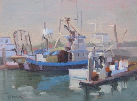 Fishing Fish Market Fishing Boats San Diego California Boats Ships Harbor Water Ocean Seascape Oil Painting Ocean Fishing Boats Fishing Boats Boat Art