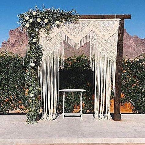 Boho Macrame Wall Hanging-Handmade Art-Woven Wall Hanging-Macrame Wedding Backdrop - Macrame Curtain