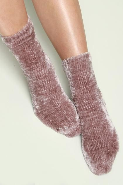 Ladies 2 pairs Chenille Chunky Socks With Pom Poms