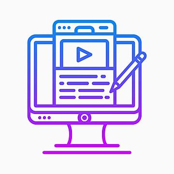 Digital Content Creator Icon With Shades Of Purple And Blue Digital Icons Content Icons Blue Icons Png And Vector With Transparent Background For Free Downlo Instagram Logo Blue And Purple Digital