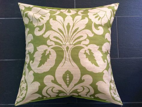 Lime Green Floor Pillow Cover 40x40 Damask Pillow Cover Extra Magnificent Large Decorative Floor Pillows
