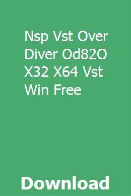 Nsp Vst Over Diver Od82O X32 X64 Vst Win Free download
