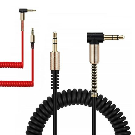 3.5mm Male to M Aux Cable Cord L-Shaped Right Angle Car Audio Headphone Jac Yj