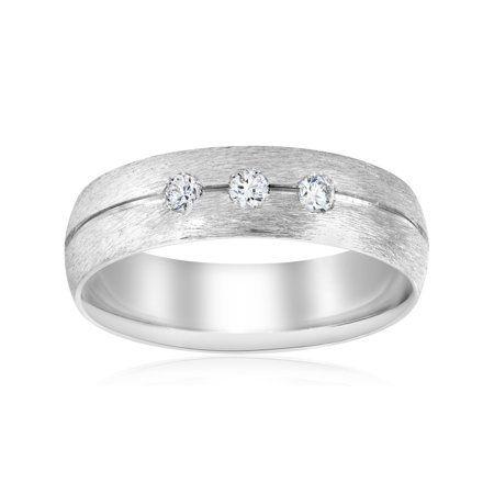 Pompeii3 Mens Diamond 14k White Gold Brushed Wedding Ring Band Walmart Com In 2021 Mens Diamond Wedding Bands Mens Gold Wedding Band Mens Wedding Rings