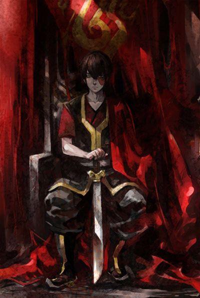 Tags: Anime, Throne, Avatar: The Last Airbender, Zuko, Mustard (Artist)