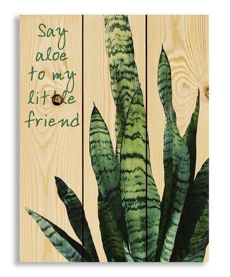 Designs Direct Creative Group Say Aloe Wood Wall Art Zulily Wood Wall Art Wall Art Designs Direct