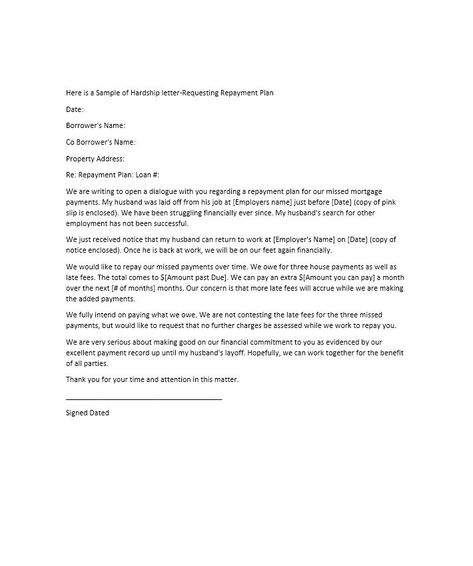 Hardship Letter Template 23 sherwrght@aol Pinterest - Layoff Notice Template