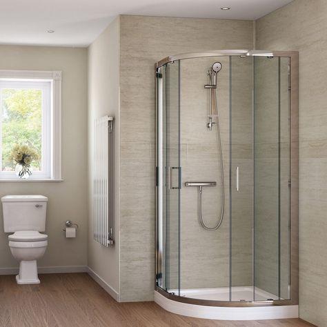 Splashpanel Sandstone Easy Fit 2 Sided Shower Wall Panel Kit In 2020 Shower Wall Panels Pvc Wall Panels Shower Enclosure