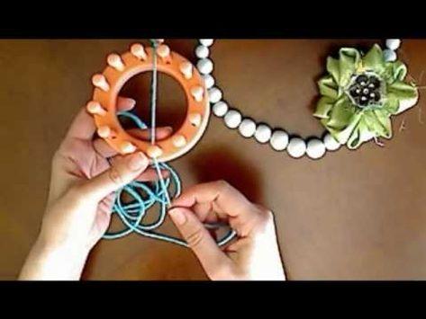 Knifty Knitter Ribbon Flower Tutorial