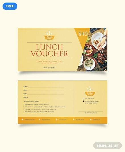 Lunch Voucher Templates Template Printable