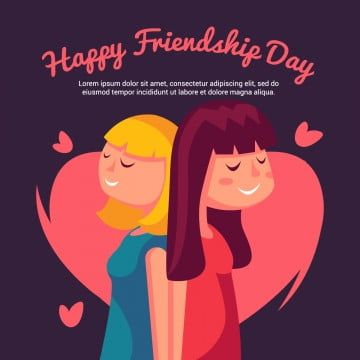 Vector Illustration Of Girls Greeting On Friendship Day Wallpaper Illustration Decoration Png And Vector With Transparent Background For Free Download Happy Friendship Day Picture Happy Friendship Day Happy Friendship Day Status