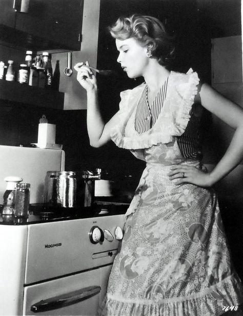 """Anne Francis in """"Blackboard Jungle"""" (1955)."""