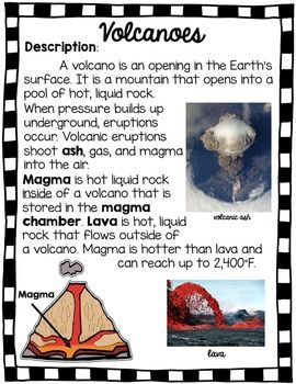 volcano experiment explanation