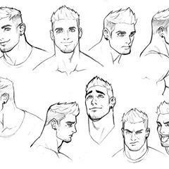 Drawing Reference Male Face Drawing Comic Face Face Sketch