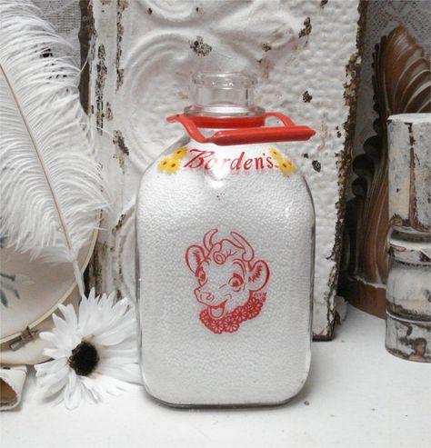 Vintage Gallon Milk Bottle Elsie