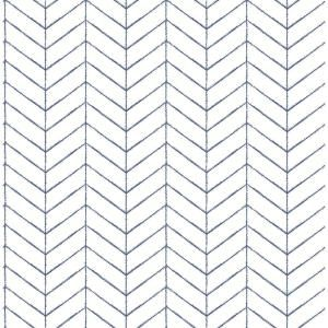 Chesapeake Bison Navy Herringbone Paper Strippable Roll Covers 56 4 Sq Ft 3118 25096 The Home Depot Herringbone Wallpaper Farmhouse Wallpaper Chevron Wallpaper