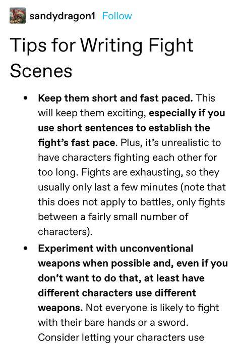How to Write Fight Scene
