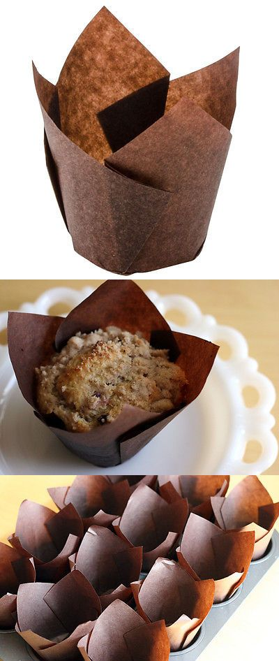 Baking Cups And Liners 177012 2 Brown Tulip Cupcake Liner Standard Size Muffin Baking Cups Lot 50 100 250 Buy It Now Only With Images Baking Cups Baking Cupcake Liners
