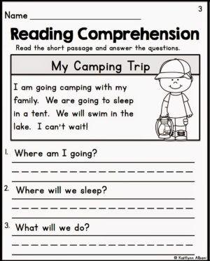 Worksheet English Worksheets For Kindergarten Reading Comprehen