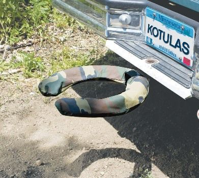 The Off Road Commode Is A Camouflage Toilet Seat That Attaches To Your Truck Or SUVs Trailer Hitch